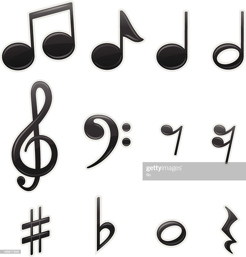 Musical Symbols Vector Art Getty Images