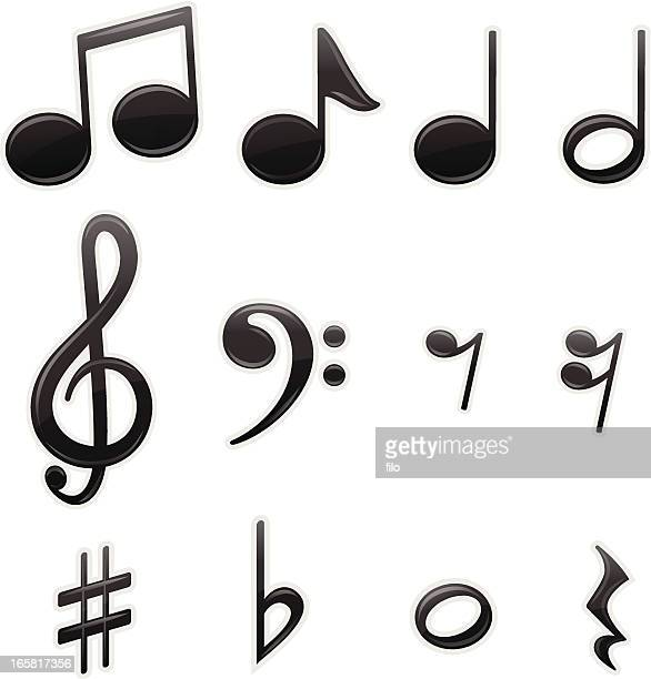 musical symbol - treble clef stock-grafiken, -clipart, -cartoons und -symbole