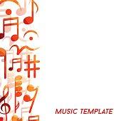 Musical template, vector