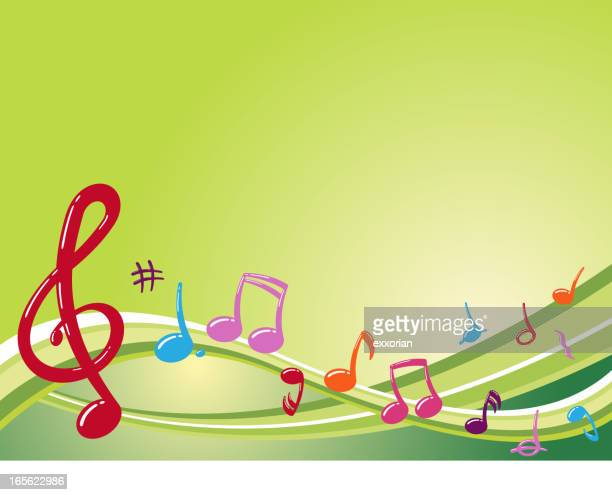 musical wave - bass clef stock illustrations, clip art, cartoons, & icons