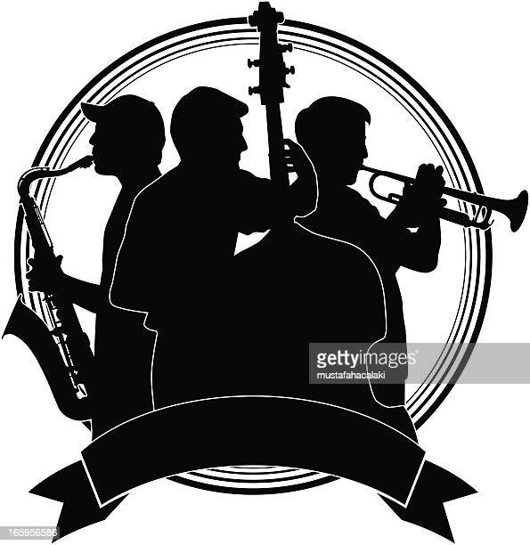musicians badge - jazz stock illustrations, clip art, cartoons, & icons