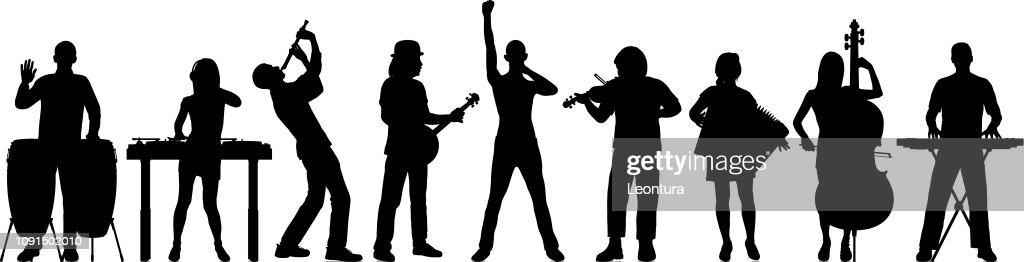 Musicians : stock illustration