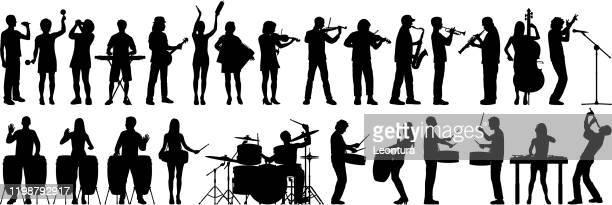 musicians - musician stock illustrations
