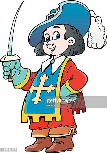 musketeer - musketeer stock illustrations, clip art, cartoons, & icons