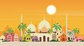 Muslim Cityscape Mosque Building Religion