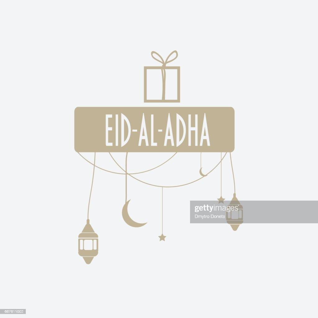Muslim Community Holiday Eid Aladha Greeting Card Vector Art Getty
