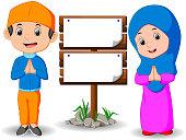 Muslim kid cartoon