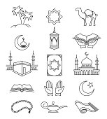 Muslim line signs for ramadan kareem