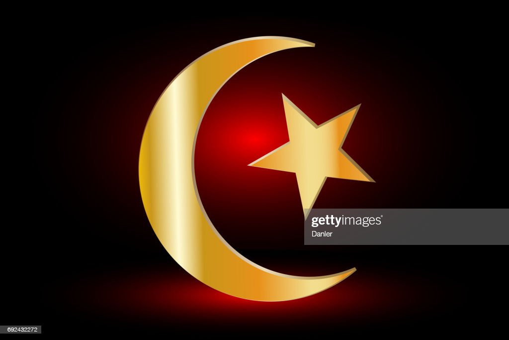 Muslim Symbolislam Symbolcrescent And Star Vector Art Getty Images