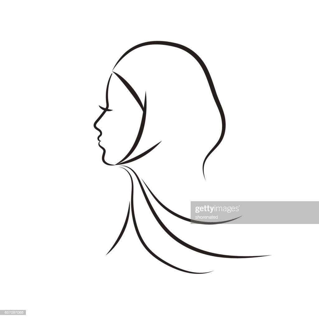 Muslim woman vector illustration