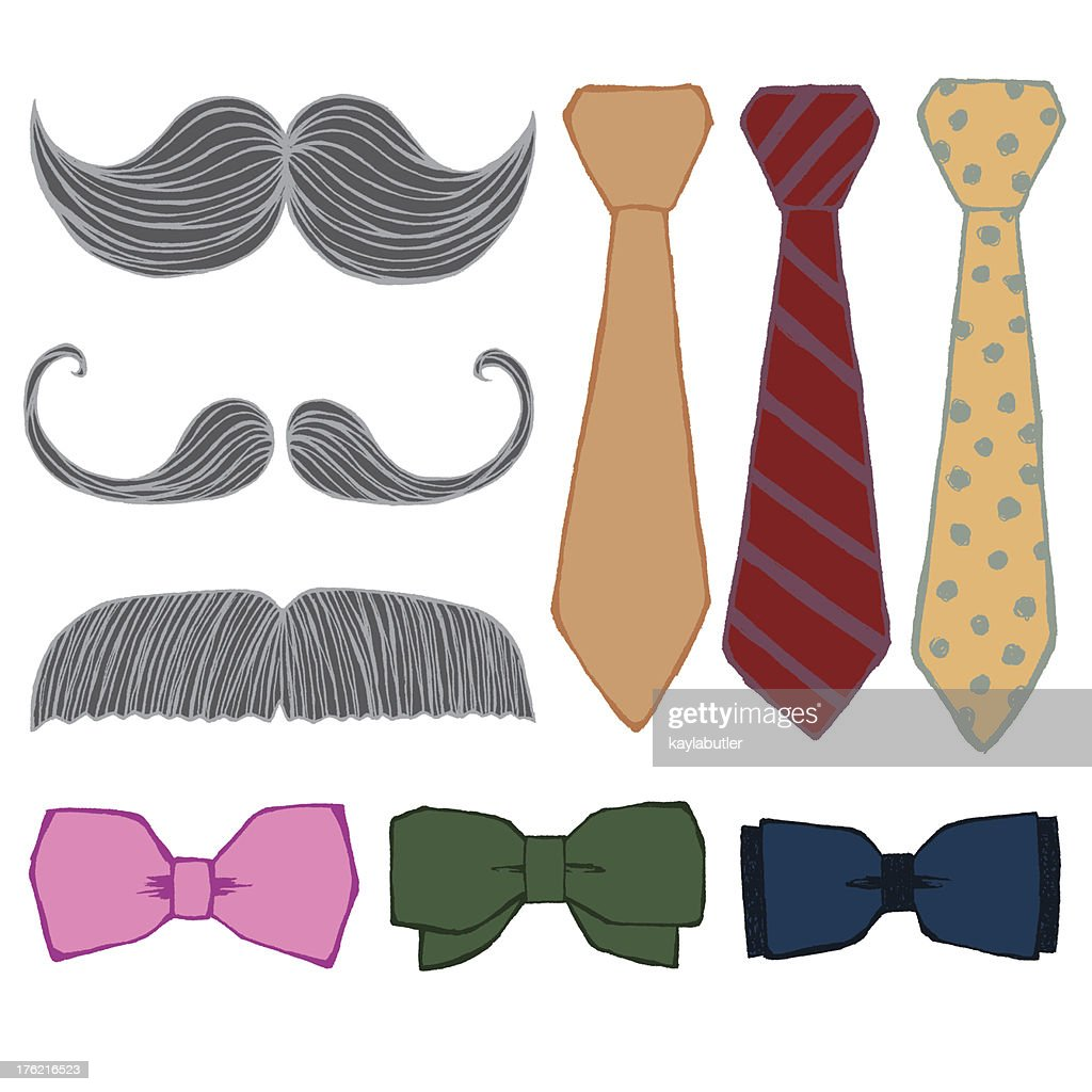 Mustache and Bow Tie Set