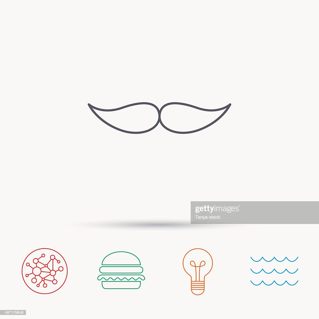 Mustache Icon Hipster Symbol Gentleman Sign Vector Art Getty Images