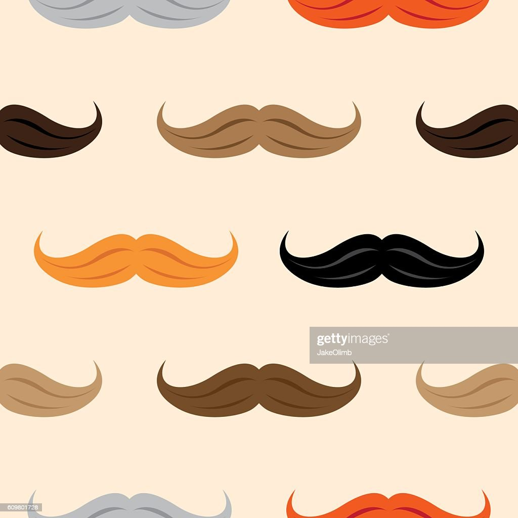 Mustache Pattern : stock illustration