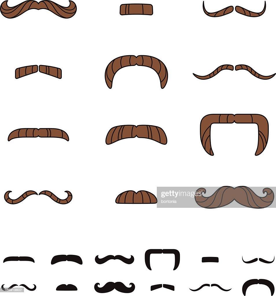 Mustache Styles : stock illustration