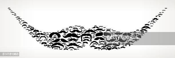 Mustache Trim Style royalty free vector art