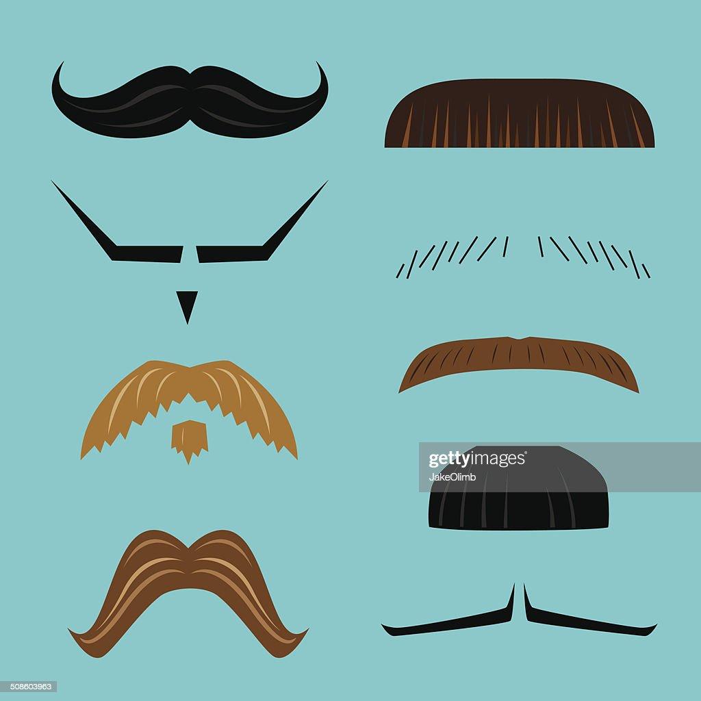 Mustaches : Vector Art