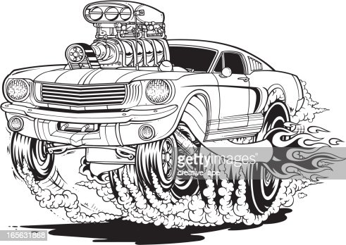 Mustang Muscle Car Stock Illustration Getty Images