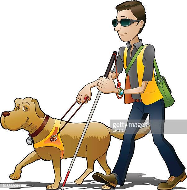 my blind friend - blindness stock illustrations, clip art, cartoons, & icons