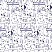 My Blog Sketch Seamless Pattern