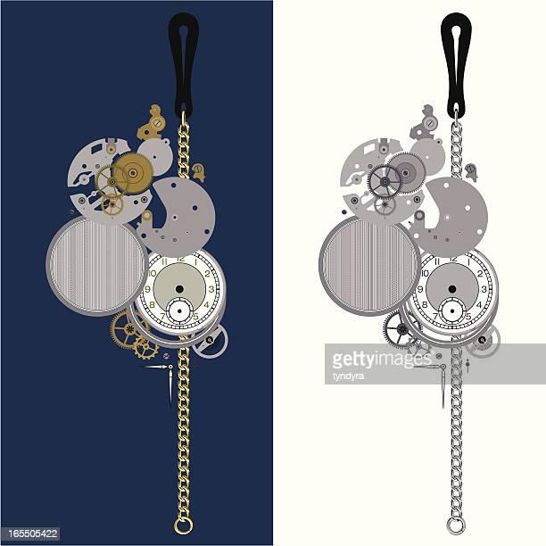 ilustraciones, imágenes clip art, dibujos animados e iconos de stock de mi antiguo reloj de bolsillo - reloj de bolsillo