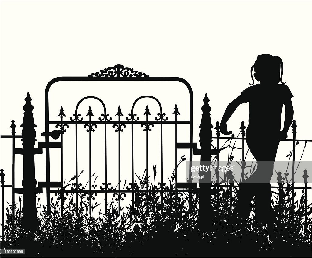 My Yard Vector Silhouette : stock illustration