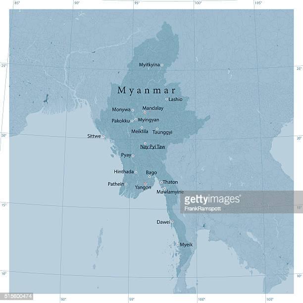 ミャンマーベクトルロードマップ - ミャンマー点のイラスト素材/クリップアート素材/マンガ素材/アイコン素材