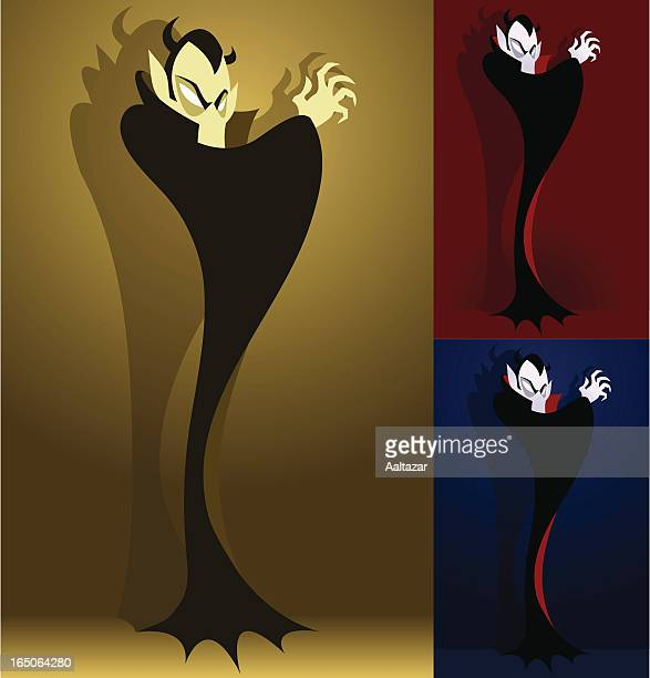 mysterious vampire - count dracula stock illustrations, clip art, cartoons, & icons