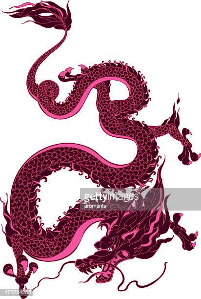 mystical dragon - animal scale stock illustrations, clip art, cartoons, & icons
