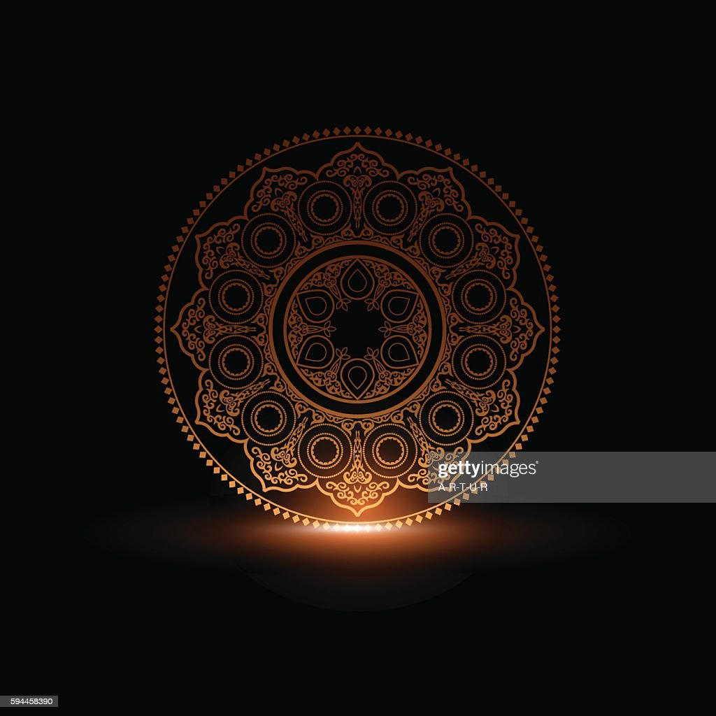 Mystical Round Ornament Pattern with light