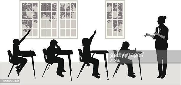 myteacher vector silhouette - instructor stock illustrations