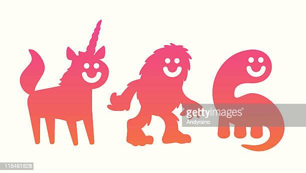 mythical beasties - bigfoot stock illustrations