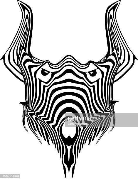 mythical creature head - agression stock illustrations, clip art, cartoons, & icons