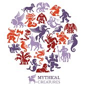 Mythical Creatures Collage