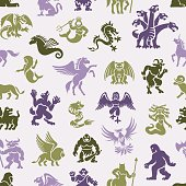 Mythical Creatures Pattern