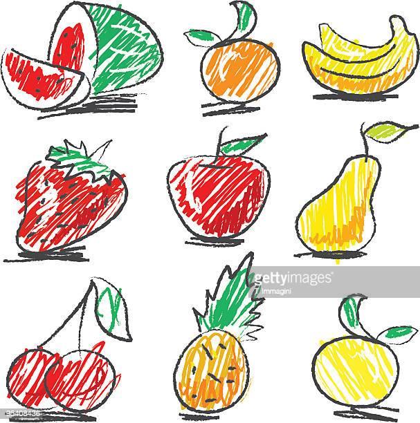 Naïf ensemble de Fruits