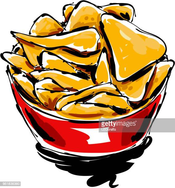 nacho drawing - nachos stock illustrations