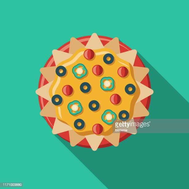 nachos mexican food icon - nachos stock illustrations