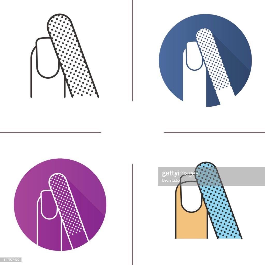 Nail filing icon