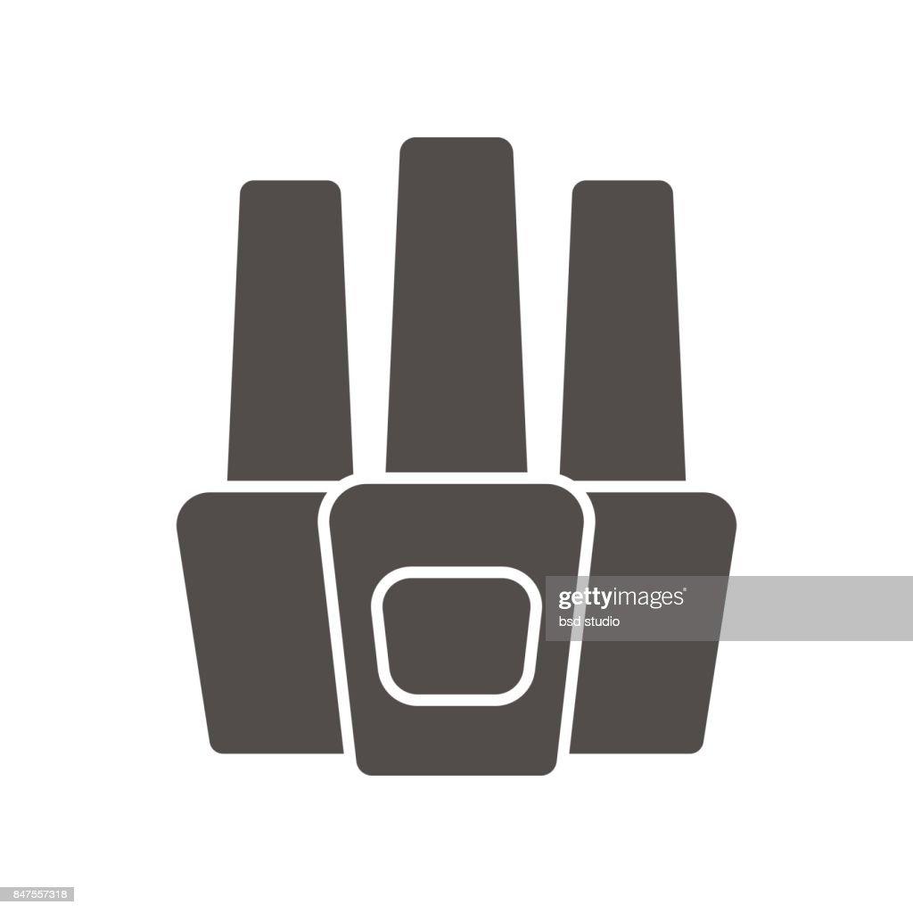 Nail polish bottles icon