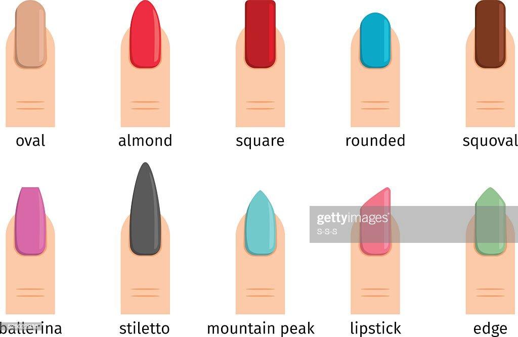 Nail shape icons