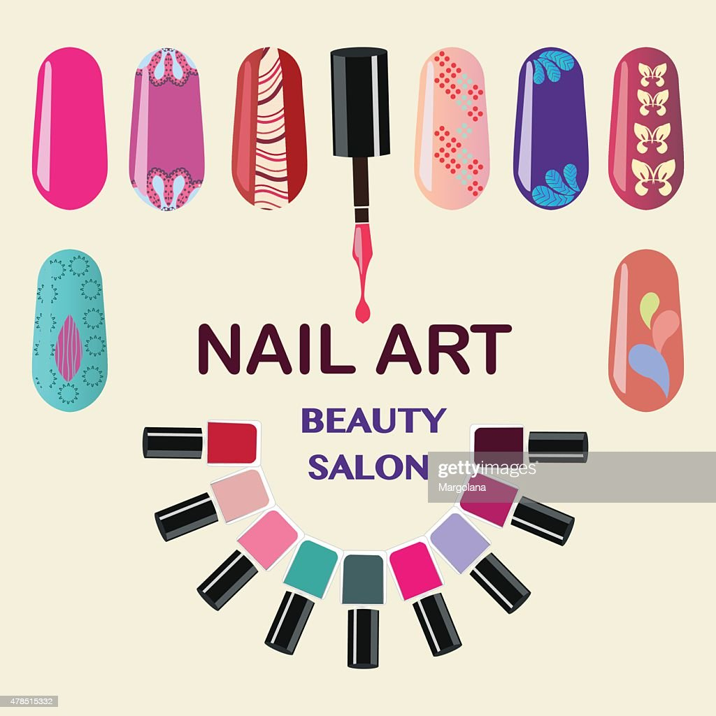 Nails art beauty salon background