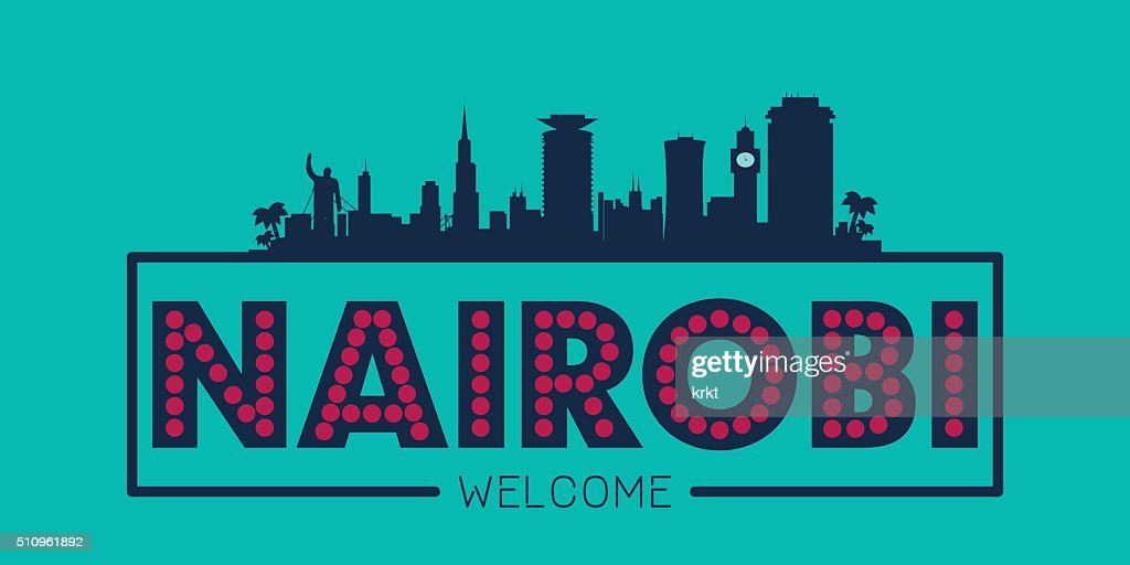 Nairobi Kenya city skyline silhouette