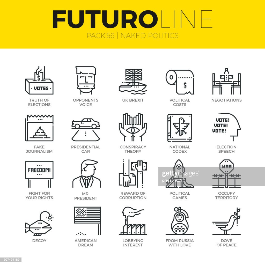 Naked Politics Futuro Line Icons
