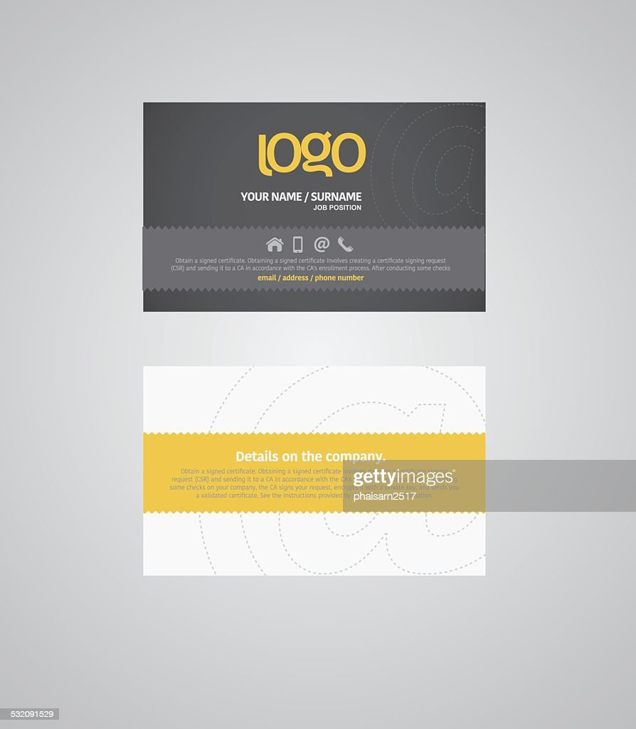 Name card and Business card. illustrator