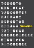 Names of Canadian Cities on Split flap Flip Board Display