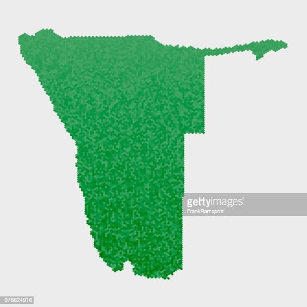Namibia-Land-Map-grünen Sechseck-Muster