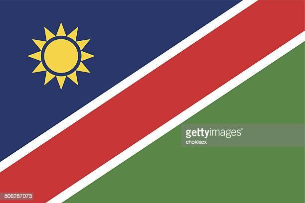 namibia flag - namibia stock illustrations, clip art, cartoons, & icons
