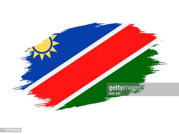 namibia - grunge flag vector flat icon - namibia stock illustrations, clip art, cartoons, & icons