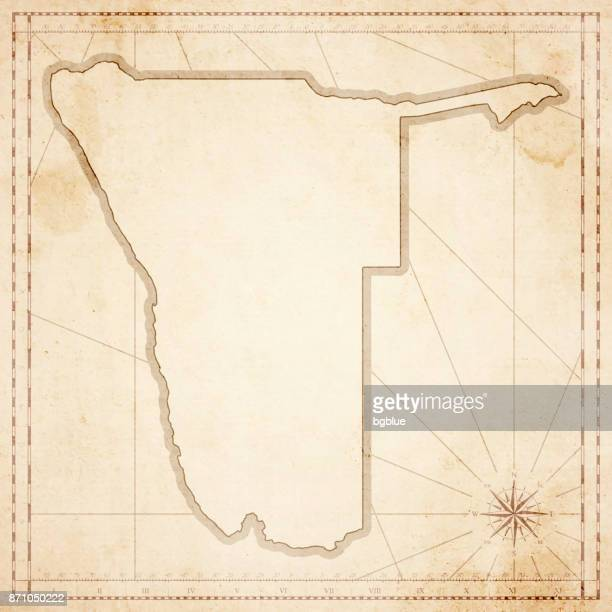 namibia map in retro vintage style - old textured paper - namibia stock illustrations, clip art, cartoons, & icons
