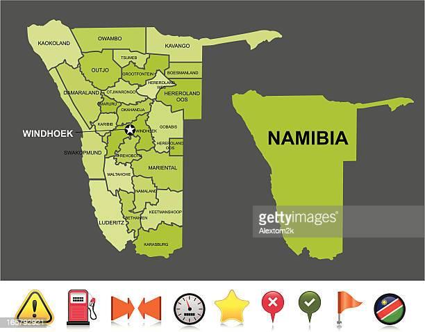 namibia navigation map - namibia stock illustrations, clip art, cartoons, & icons